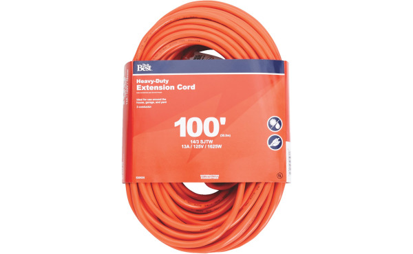 Do it Best 100 Ft. 14/3 Heavy-Duty Outdoor Extension Cord