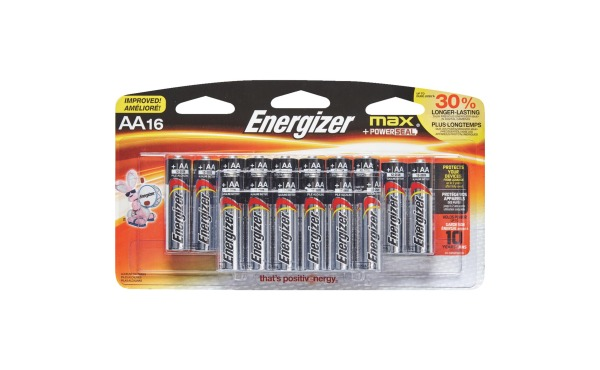 Energizer Max AA Alkaline Battery (16-Pack)